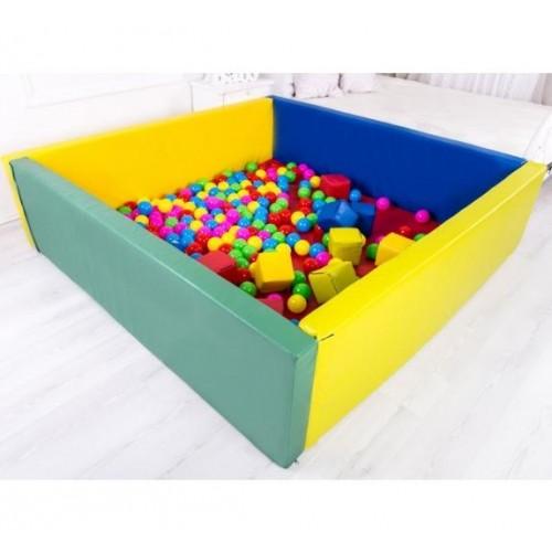 Сухой бассейн прямоугольный с матом 200-200-40 см толщина стенок 15 см 0203/01/05 Тia-sport без шариков