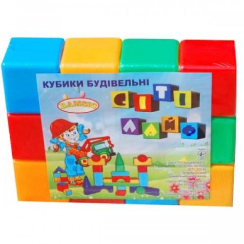 Кубики большие 12штук 021 Бамсик