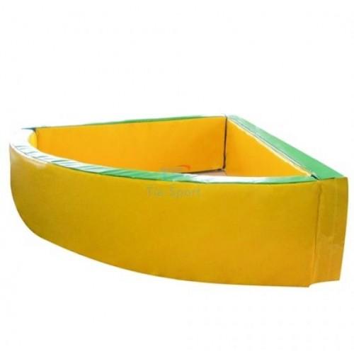 Сухой бассейн мягкий угловой 130-130-40 см толщина стенок 10 см Тia-spor
