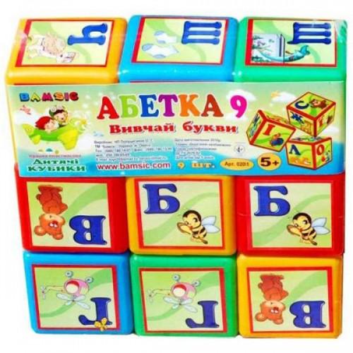 Кубики 9 Абетка малые 028/1 БАМСІК