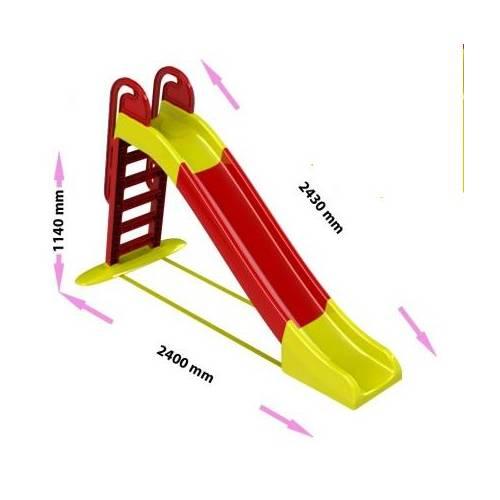 Горка детская большая для дома и дачи 014550 желто-красная