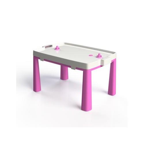 Стол пластиковый с насадкой для аэрохоккея розовый 04580/3Doloni