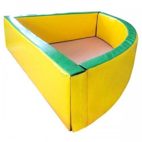 Сухой бассейн мягкое дно угловой 130-130-40 см толщина стенок 10 см Тia-spor