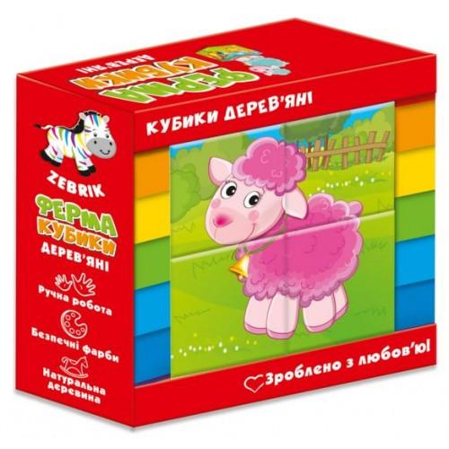 Деревянные кубики Ферма ZB1001-01 Влади Тойс