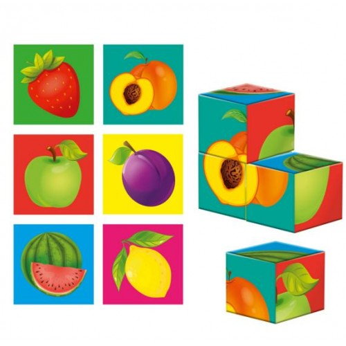 Деревянные кубики Фрукты ZB1001-04 Влади тойс