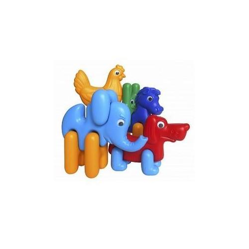 Конструктор-пазлы пластмассовый Зоо-логика 1647 Colorplast