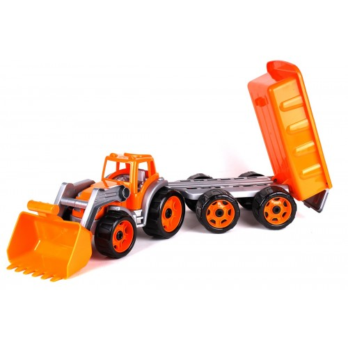 Трактор детский  с ковшом и прицепом 3688 ТехноК