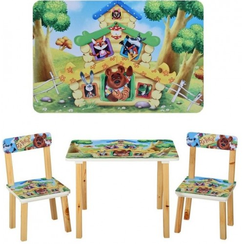 Детский стол и 2 стула Теремок 501-33  Украина