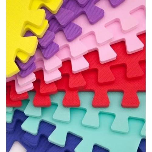 Коврик пазл мягкий разноцветный 10 пазлов Веселка 50-50-1 Eva-Line