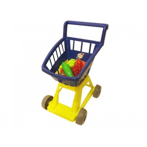 Тележка для игры в магазин с овощами 693 в.3 Орион