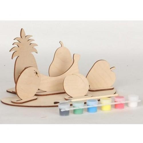 Сборная деревянная модель с красками Овощи или Фрукты 70964 Вудмастер