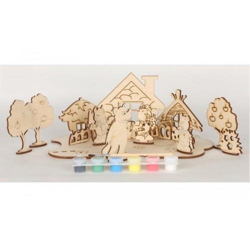 Сборная деревянная модель Сказки 71101 Вудмастер