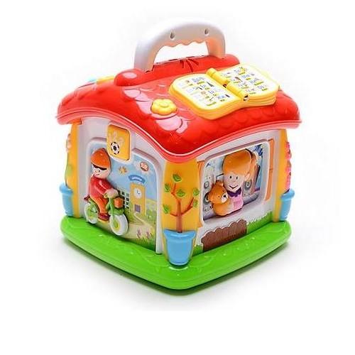 Развивающий Говорящий домик музыкальная игрушка со сказками и алфавитом Joy Toy 9149