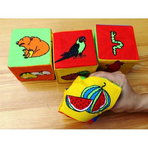 "Кубики мягкие 6 штук 13134 ТМ ""Розумна іграшка"""