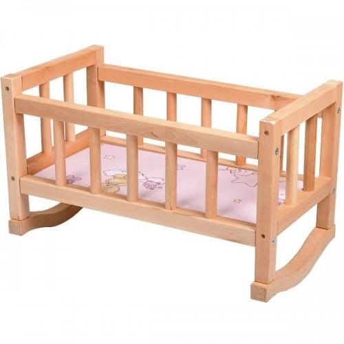 Кроватка деревянная для кукол ВП-002 Винни Пух