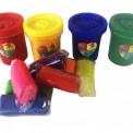 Краски пальчиковые 4 баночки + тесто для лепки в подарок 03-01 Danko Toys