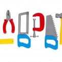 Набор инструментов в зеленом чемодане 4371 Технок