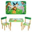 Детский стол и 2 стула зеленые 501-11 Виваст, Харьков