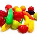 Набор пластиковый Фрукты и овощи 24 предмета малые 518 Орион