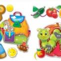 Игра с шнурочками Малышок. Шнуровка+пуговицы. Фрукты-овощи. VT1307-12