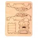 Набор для творчества сборная деревянная модель Спортивная машина/Пикап 70522/70519