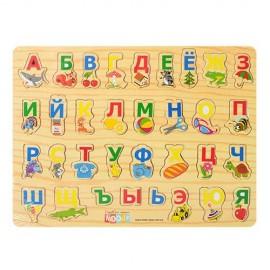 Деревянная рамка-вкладыш Алфавит 0001