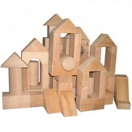 Конструктор Городок деревянный №3 70 элементов ВП-003/3 Винни Пух