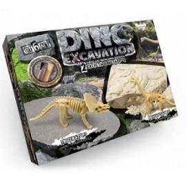 Набор для проведенния розкопок DINO EXCAVATION динозавры  DEX-01-04 Danko Toys