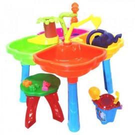 Песочный столик со стульчиком лейкой пысочным набором 01-121-1 Киндервей
