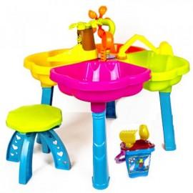 Песочный столик  со стульчиком+песочный набор 01-121 Киндервей