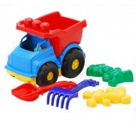 """Машинка """"Тотошка"""" № 2 самосвал с песочным набором 0176 """"Colorplast"""""""