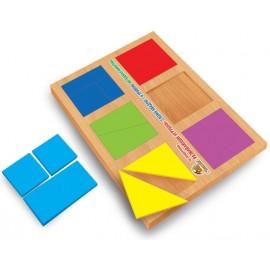 Игра Сложи квадрат по методике Никитина 1 уровень Вундеркинд СК-019