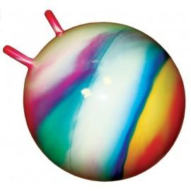 Мяч для фитнеса с рожками 45 см разноцветный 0210