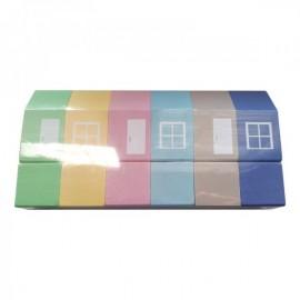 Набор деревянный домиков цветных ВП 025/1 Винни Пух