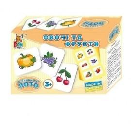 Лото развивающее Фрукты и овощи 0264 Bonni toys