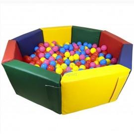 Сухой бассейн мягкое дно Восьмигранник 150х40*10 см 0299 Тia-sport без шариков