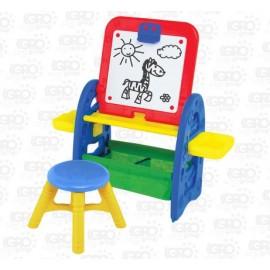 Мольберт для детей пластиковый со стульчиком