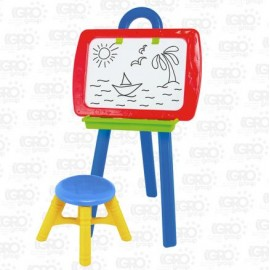 Мольберт для детей пластиковый со стульчиком № 3 0381 Colorplast малый