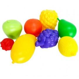 Набор пластиковых фруктов в сетке 9 штук 04-474 Киндервей