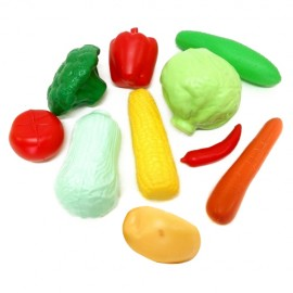 Набор пластиковых овощей в сетке 9 штук 04-476 Киндервей
