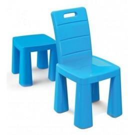 Стульчик-табурет детский пластиковый синий 04690/1Doloni