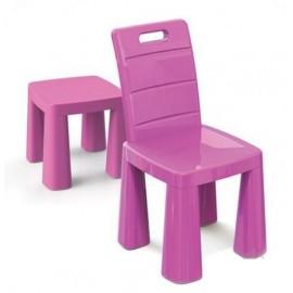 Стульчик-табурет детский пластиковый розовый 04690/3 Doloni