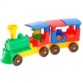 Конструктор детский Поезд 1 вагон 0779