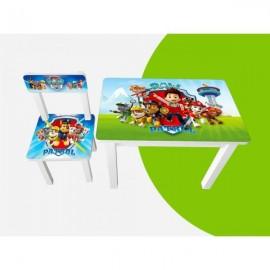 Детский стол и стул для творчества Щенячий патруль BSM1-M07