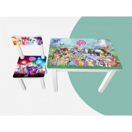 Детский стол и стул для творчества Little Pony Colors 2 вида BSM2-M02/03