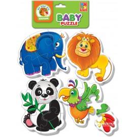 """Мягкие пазлы для детей от 1 до 3-х лет """"Животные"""" 1106 Vladi Toys, Днепропетровск"""