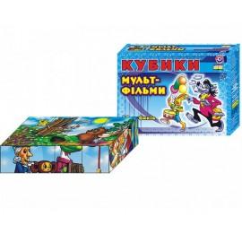 Кубики пластмассовые мульт-фильмы  12 штук 144 ТехноК