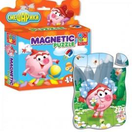 Магнитные пазлы Смешарики в коробке 1504-28Vladi Toys