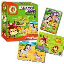 Пазлы умные  «Зоопарк» VT1504-36 Vladi Toys