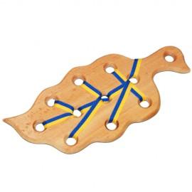 Игрушка из дерева Шнуровка Листик 171973-74 ТМ Дерево